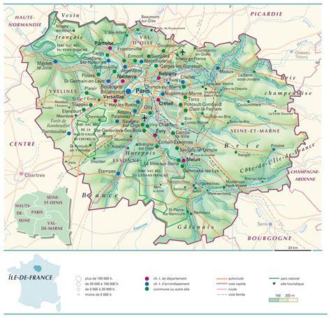 Region Parisienne by Carte Ile De Carte Du Monde