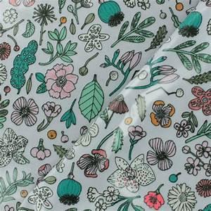 Tissu coton enduit rico design hygge fleurs fluo lilas x for Chambre bébé design avec tissu coton fleurs