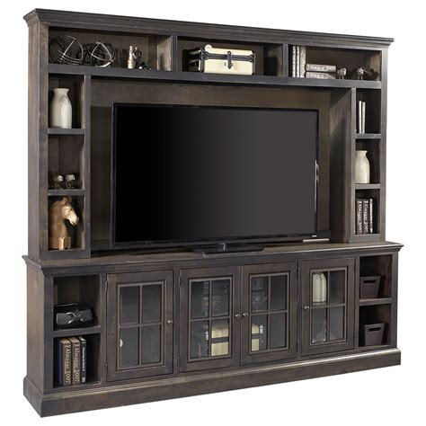 tv hutch with doors aspenhome churchill 96 quot tv console and hutch with 4 doors