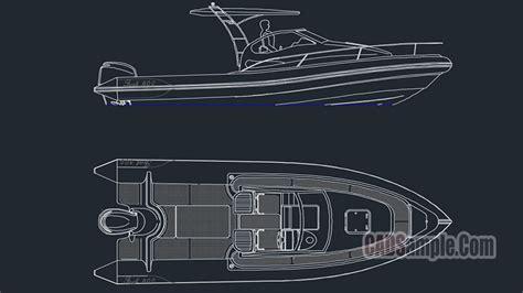 motor boat free dwg 187 cadsle