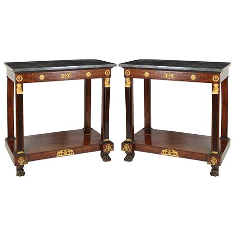 pair of empire consoles tables for sale at 1stdibs