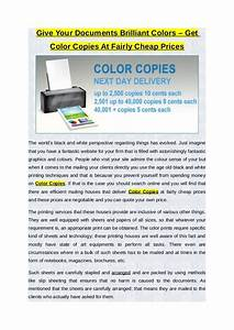 give your documents brilliant colors get color copies at With cheapest way to print color documents