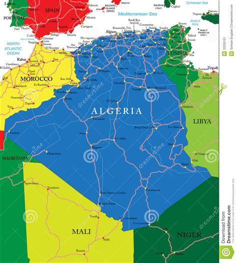 algeria map stock image image