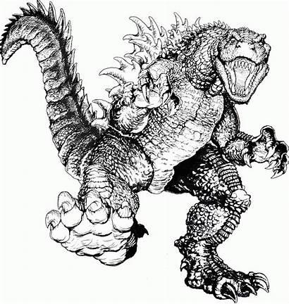Godzilla Coloring Pages Printable Todd Graphic Tennant