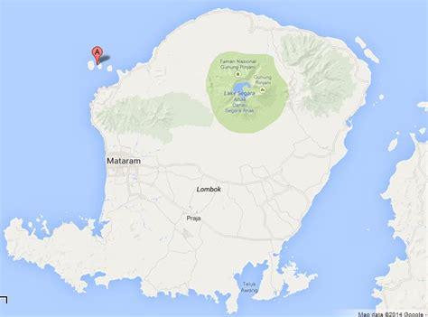 gili islands  map  lombok indonesia