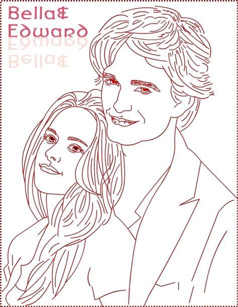 twilight edward bella draw  coloring page