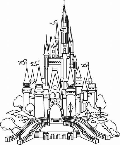 Castle Disney Coloring Pages Disneyland Adults Adult