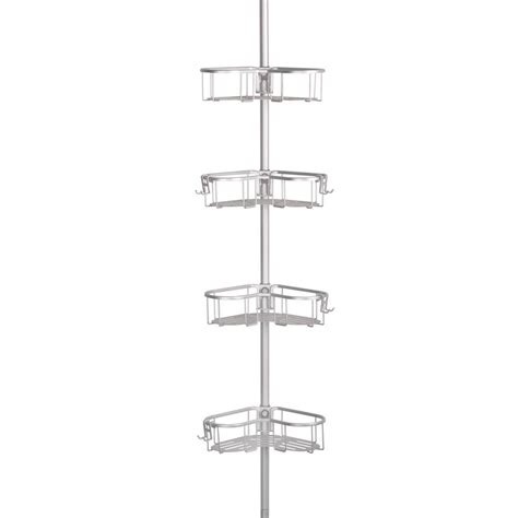 utopia alley flat shelf tension pole caddy  rustproof