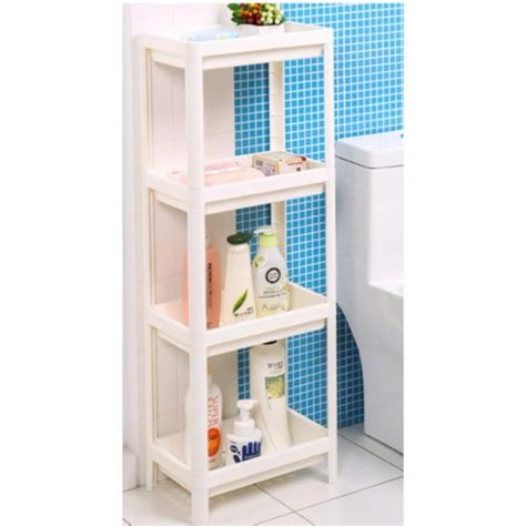 sokano 4 tiers br001 plastic bathroom shelf unit multipurpose storage unit 110cm height home