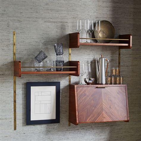 west elm flat bar storage desk mid century office shelving