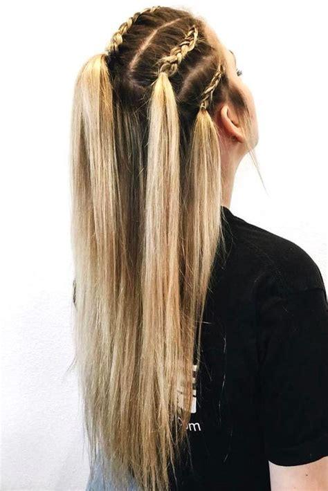 modern side braid hairstyles  women braided long