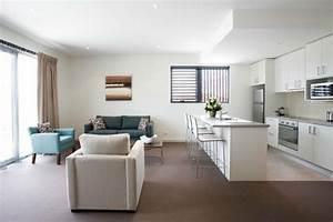 Wohn Schlafzimmer In Einem Raum : modernes wohnzimmer einrichten wohn und k chenraum kombinieren ~ Markanthonyermac.com Haus und Dekorationen