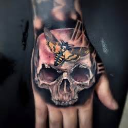 Skull Hand Tattoo Design