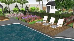 Aménagement Cour Extérieur : am nagement paysager d 39 un cour arri re avec piscine youtube ~ Melissatoandfro.com Idées de Décoration