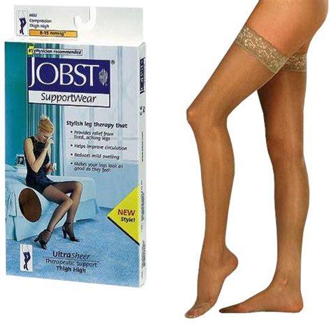 bsn jobst ultrasheer supportwear thigh high   mmhg mild compression stockings