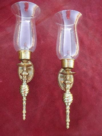 polished brass wall sconces for candles candle sconce