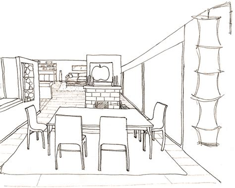 Perspective Drawings Of A Modern House