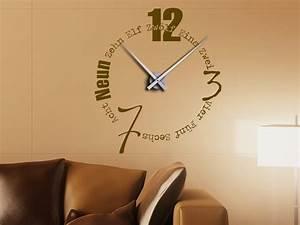 Große Uhr Wand : wandtattoo uhr mit buchstaben und w rtern bei ~ Indierocktalk.com Haus und Dekorationen