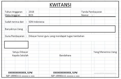 Contoh Kwitansi Pembayaran Excel by Tutorial Cara Membuat Kwitansi Bos Otomatis Di Excel
