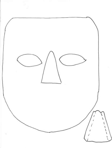 Ancient Mask Template by Theatre Masks Outline