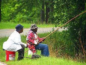 Cane Pole Fishin' Two women cane pole fishing in Doyle
