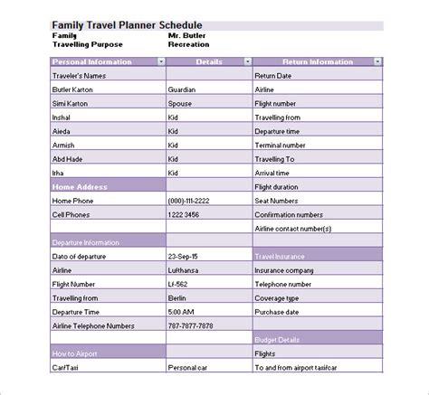 trip scheduler templates trip schedule template schedule template free