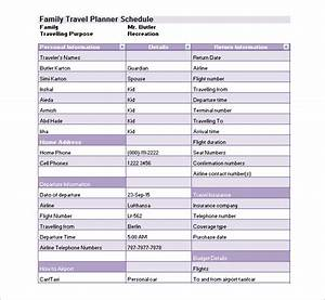 16 travel schedule templates free word excel pdf for Flight schedule template