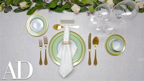 set  dinner table architectural digest youtube