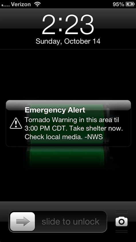 iphone emergency alerts cell broadcast alerting