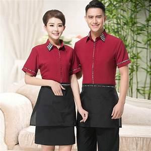 Aliexpress.com : Buy Red and Black Restaurant Uniform ...