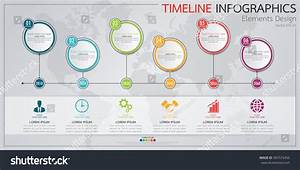 Infographics Business Horizontal Timeline Process Chart