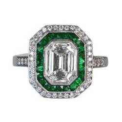 emerald wedding ring emerald and diamonds 4040412 estate jewelry