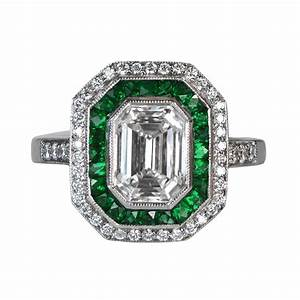 emerald and diamonds 4040412 estate diamond jewelry With emerald diamond wedding rings