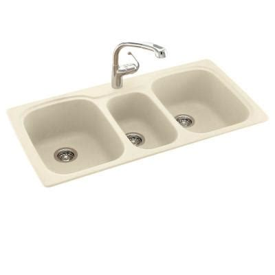 swanstone kitchen sinks home depot dual mount composite 44 in 1 bowl kitchen