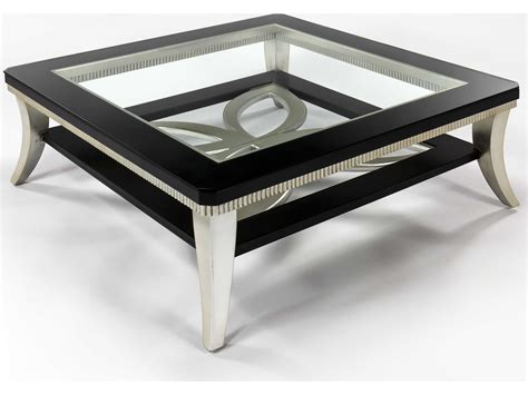 silver leaf end table artmax 42 x 16 5 square black espresso silver leaf