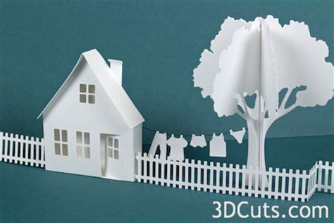Free flat christmas tree icon of all; Tutorial - Ledge Village Cottage — 3DCuts.com