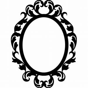 Stickers muraux baroque Sticker Cercle style mirroir Ambiance sticker com