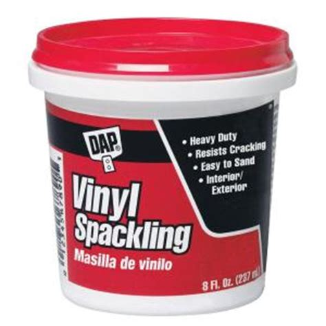 dap floor patch home depot dap 8 oz white ready to use vinyl spackling 12 pack