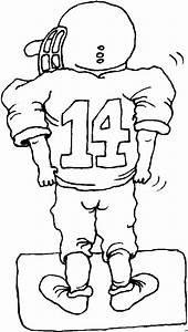Fooballer Nummer 14 14 Ausmalbild Malvorlage Sport