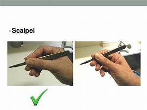 Handling of surgical instruments