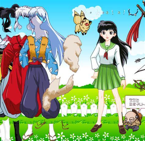 inuyasha anime juego juego para vestir a los personajes de inuyasha juegos