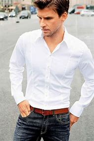 White Button Down Shirt and Jeans for Men