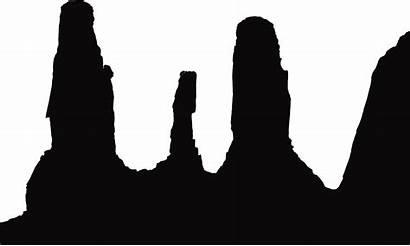 Monochrome Silhouette Clipart Hand Kayenta Oljato Plateau