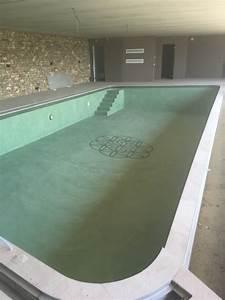 Beton Ciré Piscine : r alisation d 39 une piscine int rieur en b ton cir merci la vie ~ Melissatoandfro.com Idées de Décoration
