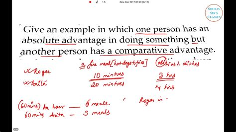 Microeconomics Absolute Vs Comparative Advantage Isi,dse