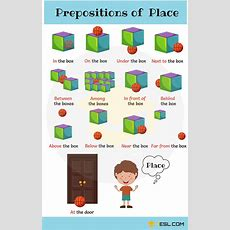 Full List Of Prepositions In English With Examples  7 E S L