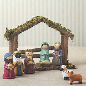 children's ceramic nativity set by the christmas home ...