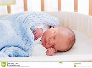 Newborn Baby Boy In Hospital Cot Stock Photo - Image: 57824867