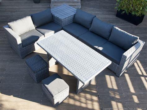 canape jardin resine tressee emejing salon de jardin canape coffre ideas amazing