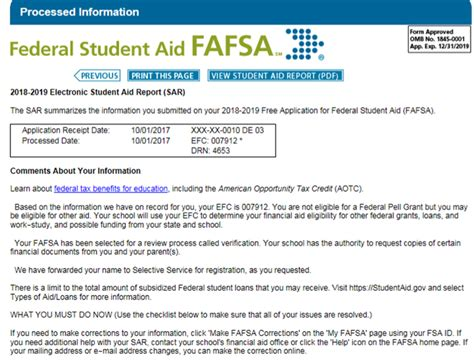 fafsa  completed       sar